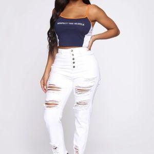Fashion Nova white jeans